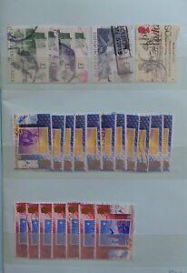 Grande-Bretagne-Royaume-Uni-collection-de-timbres-dans-un-carnet