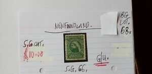 NEWFOUNDLAND-1C-1898-QUEEN-VICTORIA-GREEN-STAMP-G-U