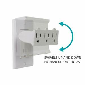 Globe-Electric-3-Outlet-Lateral-Swivel-Grounded-Wall-Adapter-Tap-White-46505