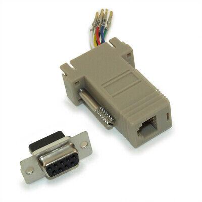 50 Lot pack qty DB9 Female to RJ45 8P8C Modular Adaptor Ivory connector Adaptor