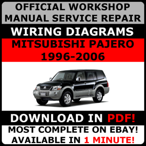 image is loading official-workshop-service-repair-manual-mitsubishi-pajero -1996-