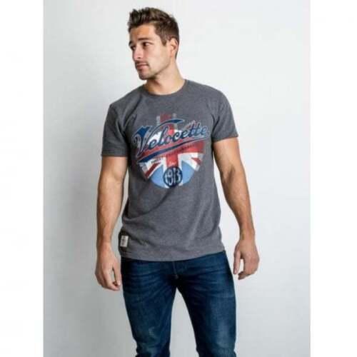 Red Torpedo Velocette Blighty T-Shirt Graphite MENS