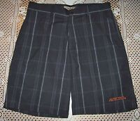 Chiliwear Auburn Tigers Mens Charcoal Plaid Sonoma Woven Short Sz 40