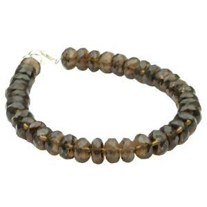 Armband-Armkette-aus-echtem-Rauchquarz-braun-facettiert-amp-925-Silber-20cm