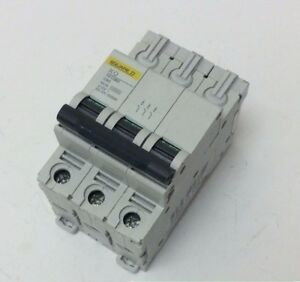 SQUARE D 63 AMP MCB SCHNEIDER KQ PLUG IN TRIPLE POLE C TYPE