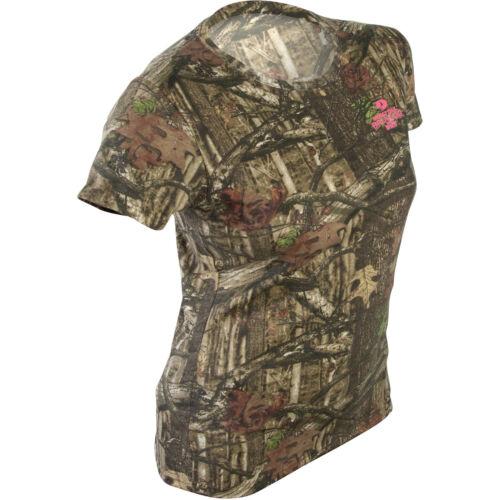 Mossy Oak Break-up Infinty Women/'s//Ladies Camo Short Sleeve Crew T-Shirts S-2XL