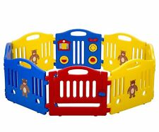 Baby Child Playpen 8 Panel Safety Play Center Yard Home Indoor Outdoor