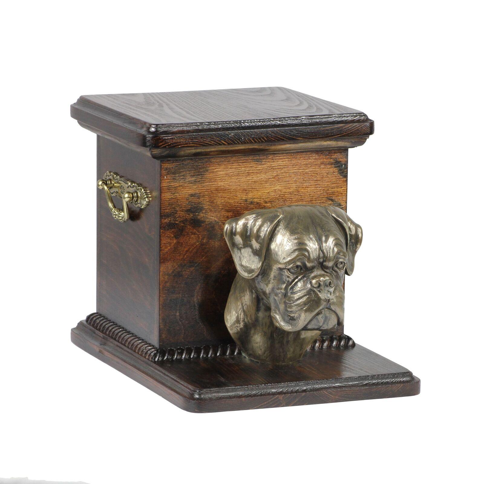 Boxer type 2 - - - wooden exclusive urn for dog with statue, Art Dog type 3 999563