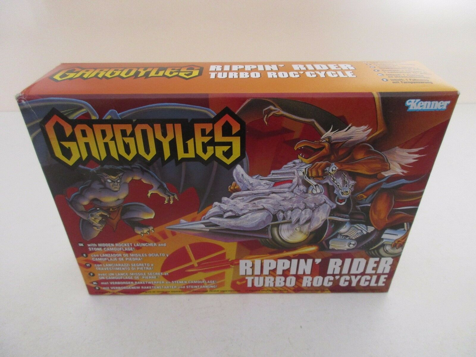 MOTO GARGOYLES - RIPPIN RIDER TURBO ROC CYCLE - KENNER 1995 - NEUF NEW SEALED