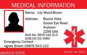 Medical Emergency Ebay In Ice Card Alert Case Plastic Of Identity