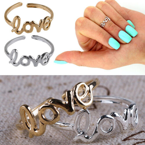 Women Fashion Toe Ring Simple Love Open Adjustable Foot Jewelry Beach U H!