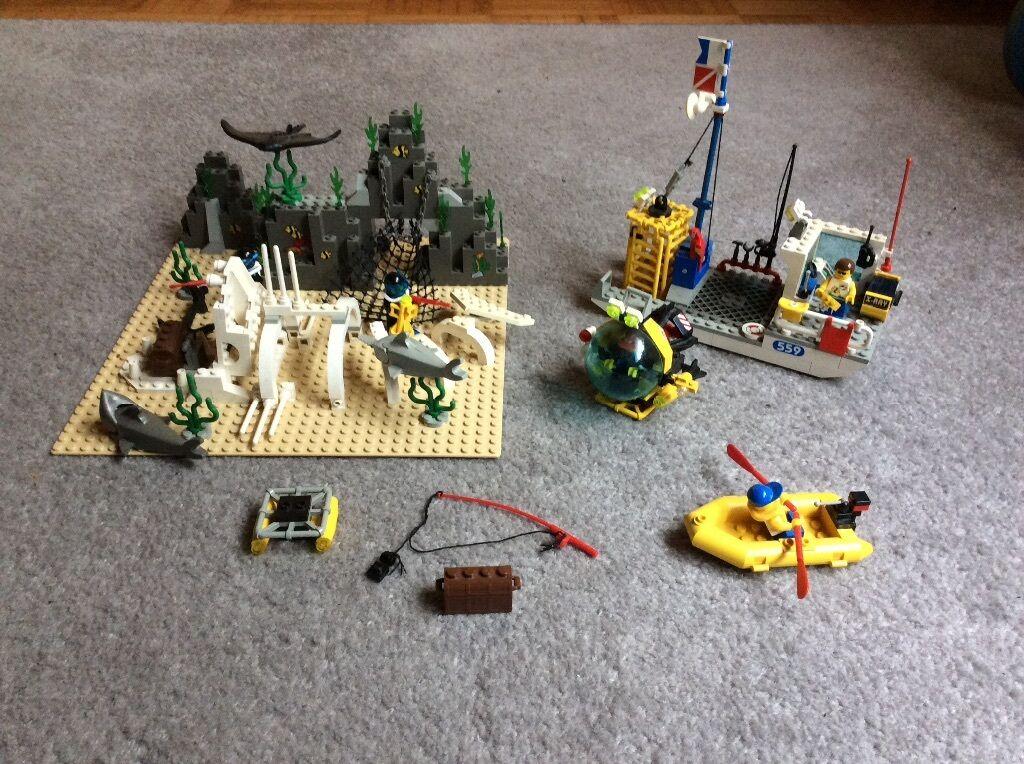 Lego System 6599 Riesenhai-Skelett Unterwasser-Welt Rarität