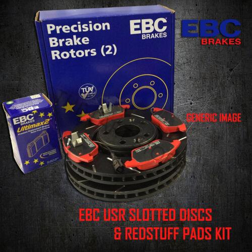 NEW EBC 286mm REAR USR SLOTTED BRAKE DISCS AND REDSTUFF PADS KIT PD07KR169
