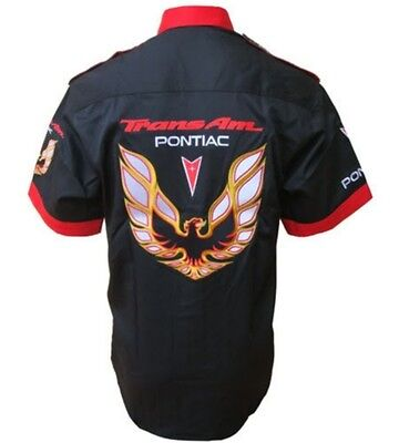SHIRT-CHEMISE PONTIAC TRANS AM  RACING TEAM  ALL LOGO IN BRODERY