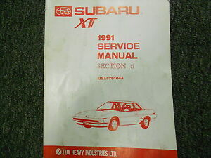 1991 Subaru XT Electrical Wiring Service Repair Shop ...