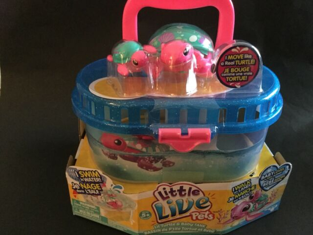 Little Live Pets Season 5 Lil' Turtle Tank - Seashore The Reef Turtle And  Baby