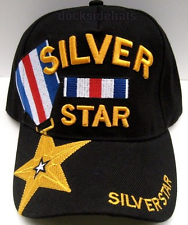 SILVER STAR VETERAN Cap/Hat U.S.Military New Black*Free Shipping*