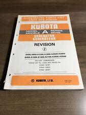 Genuine Kubota Model A Series Generator Parts Book Catalog Manual