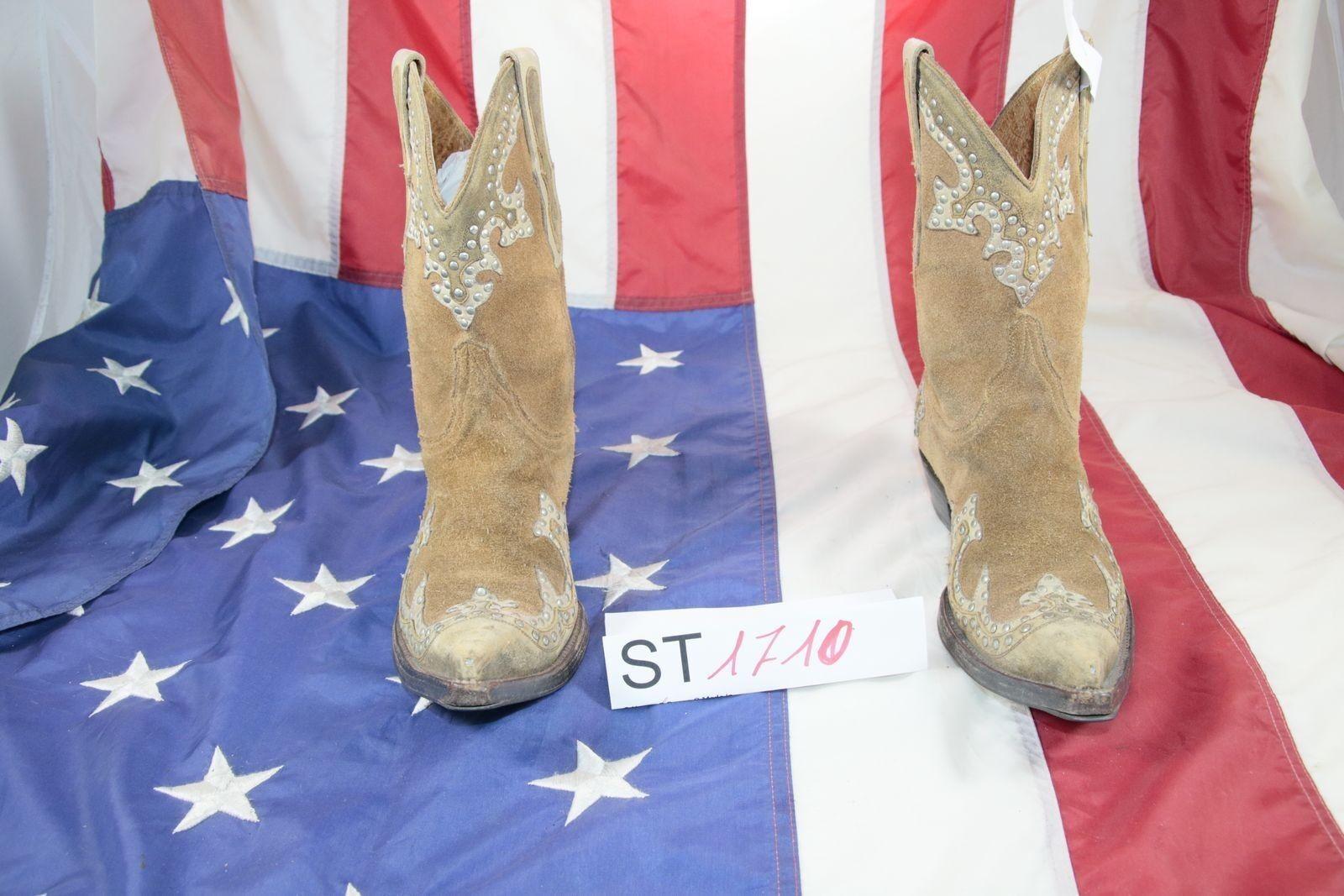 l'intera rete più bassa Stivali MARLBoro CLASSIC (Cod. ST1710) USATO N.37 DONNA DONNA DONNA Camoscio Marrone Cowboy  marchi di stilisti economici