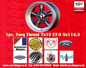 1 cerchio Torq Thrust 7x15 ET-5 5x114 Buick Chrysler Dodge Ford Lincoln Mercury