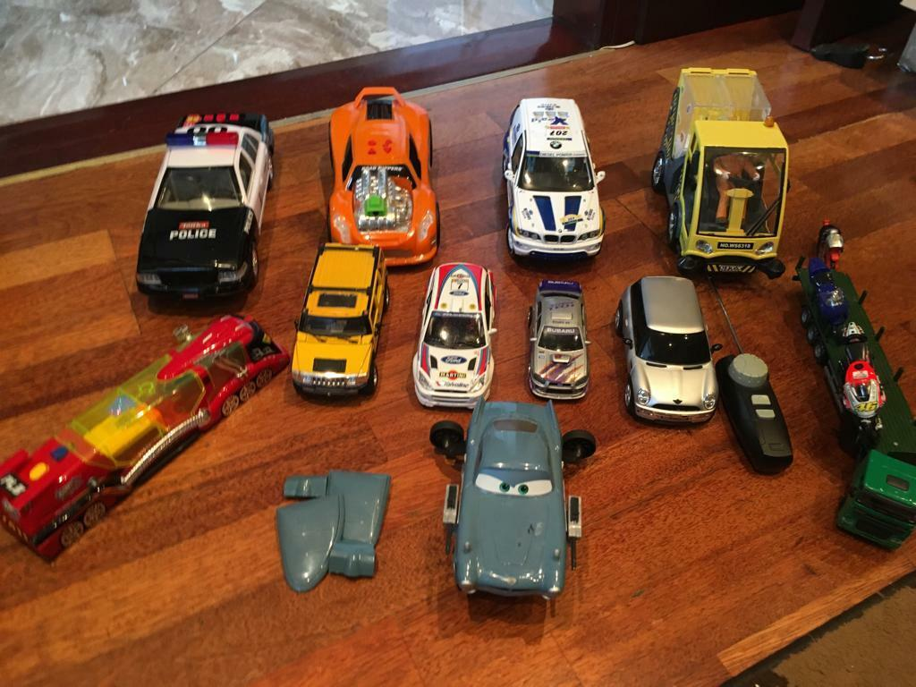 Selection of toys 3 large cars battery operated