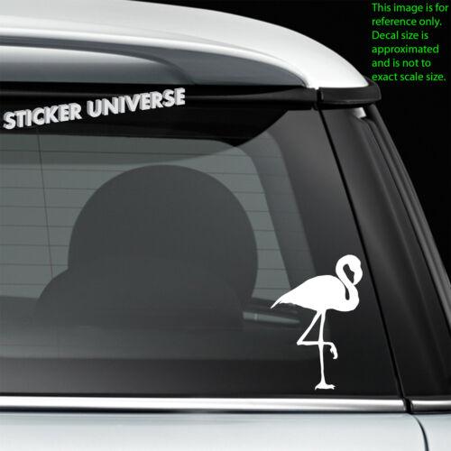 Pink Flamingo Funny Car Window Decal Bumper Sticker Tropical Hawaii Vacation 131