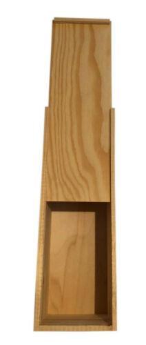Geschenkverpackung aus Holz für eine Sektflasche oder Weinflasche Holzkiste