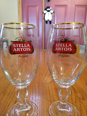 4 NEW Stella Artois Chalice 40 CL Beer Glasses Pub Bar Goblet Man Cave Belgium