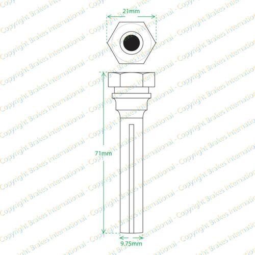 FRONT CALIPER SLIDER PIN KITS BCF0389CX2 2006-2012 HONDA CIVIC 2.0 TYPE R FN2