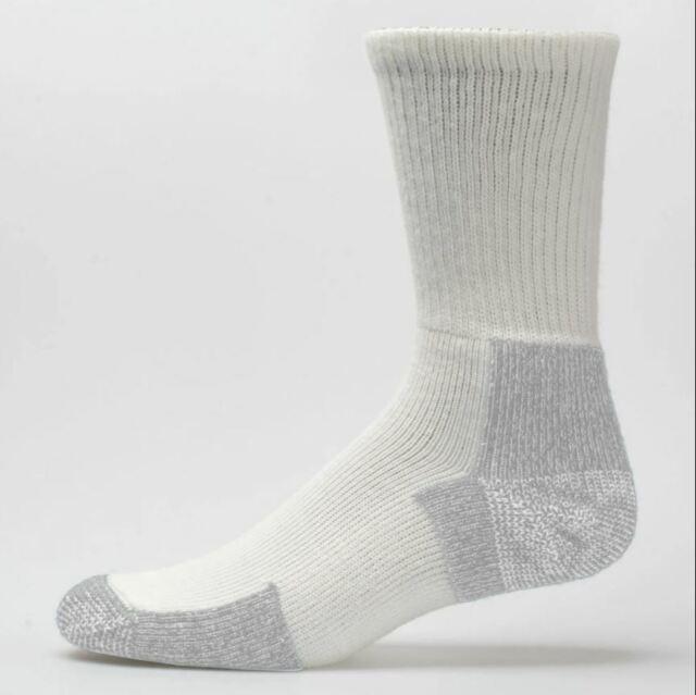WHITE Running Thick Padded Crew Socks FOR WOMEN PLATINUM
