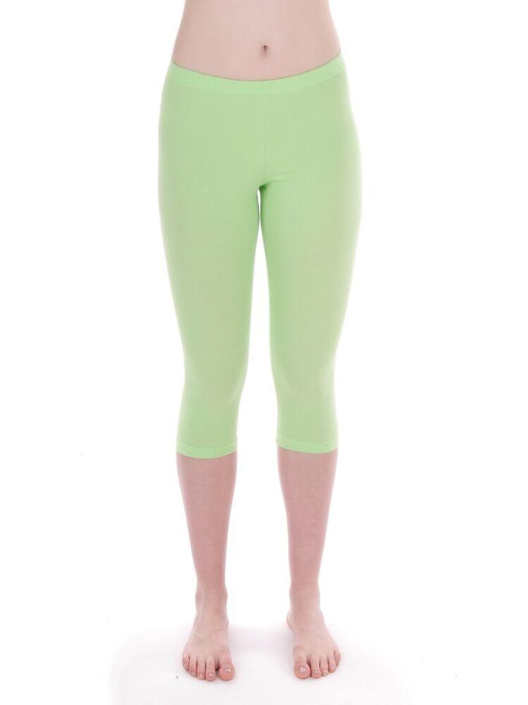 Cmp Pantalon Capri Leggings De Survêtement Vert Stretch Bande En Caoutchouc Mode