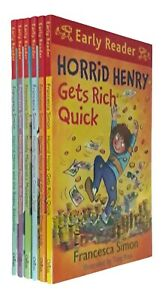 Horrid-Henry-Early-Reader-Story-6-Books-Francesca-Simon-Learning-Beginner-New