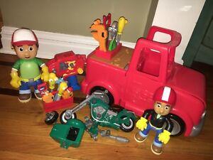 Lot Disney Handy Manny Transforming Talking Tool Truck