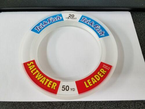 1 Spool Trik Fish Saltwater CLEAR Leader Material 20 lbs Test 50 Yards