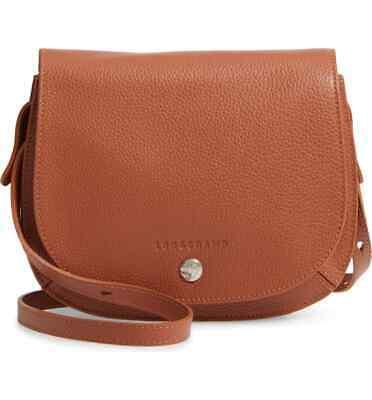 NWT LONGCHAMP Le Foulonne Leather Crossbody Bag Cognac Brown $400+  AUTHENTIC 671194354042 | eBay