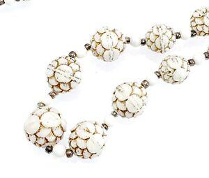 Antique-Vintage-Long-White-Uranium-Glass-Bead-Necklace-Art-Deco-Neiger