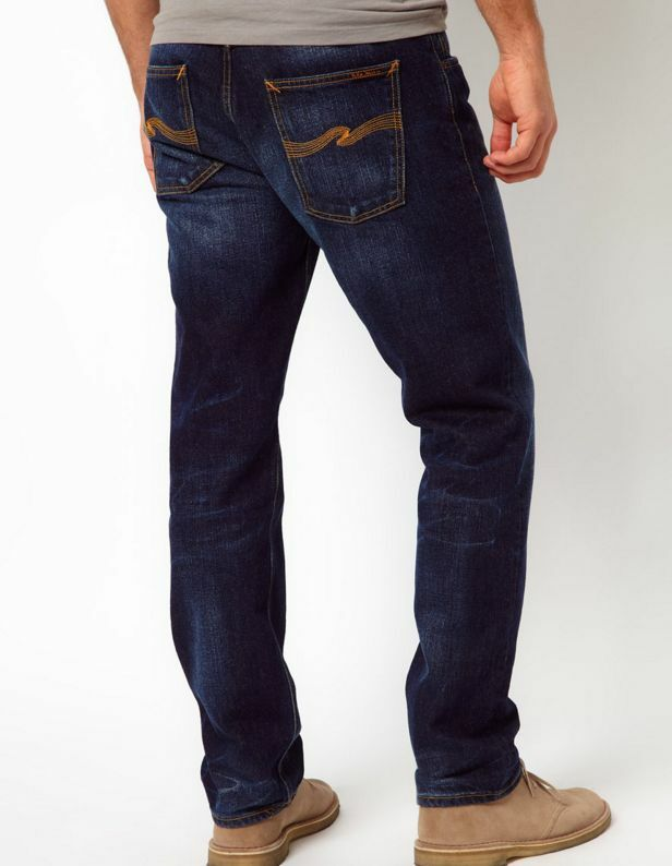 NUDIE 'Sharp Bengt - Organic bluee Note' Straight Leg bluee Jeans 30 RRP  .00