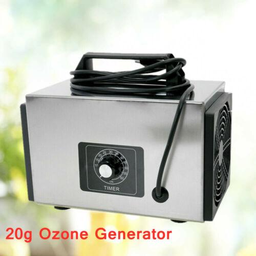 20G Ozongenerator Luftreiniger Ozonisator mit Zeitschalter Ozongert 220V 120W
