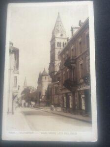 Munster-Postcard-vue-vers-les-Eglises-church-Germany-German-by-Braun-amp-Cie