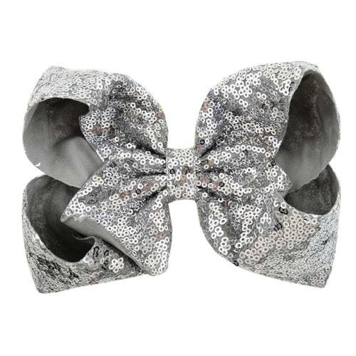 Large Bowknots Girls Glitter JOJO SIWA Sequins Hair Bow Alligator Clips Hairpin