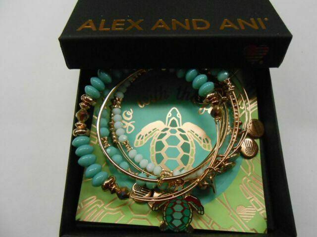 Alex /& Ani Color Infusion Go With the Flow set of 5 A18SETGWFSR
