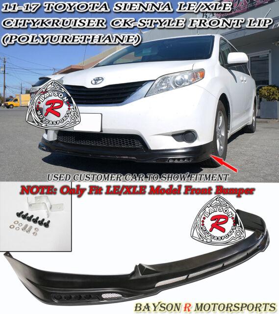 CityKruiser CK-Style Front Lip (Urethane) Fit 11-17 Toyota Sienna [Non-SE Model]