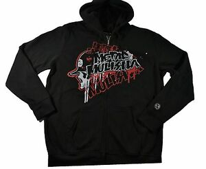 5a0508534 Metal Mulisha PREMIER FLEECE Black White Red Zip Up Men's Sweatshirt ...