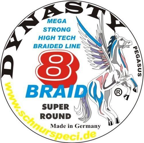 Dynaysty 8Braid intrecciato Waller Corda Super Round tipo 03034kg 1m