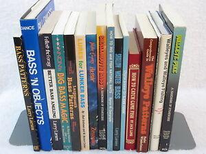 Lot-of-16-FISHING-BASS-amp-WALLEYE-BOOKS