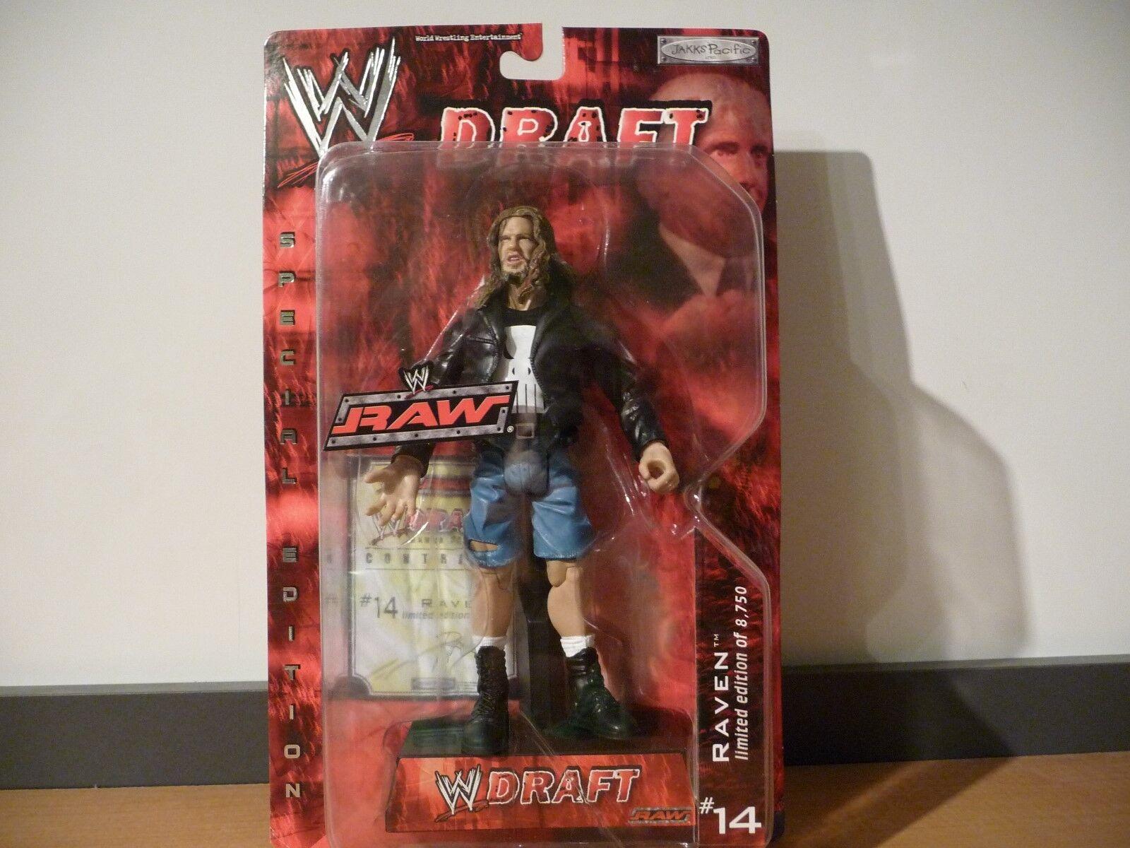 MOC WWE Draft Raw Raven Jakks Pacific 2002