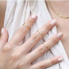 4pc/Set Rings Urban Gold Color Cute Above Knuckle Band