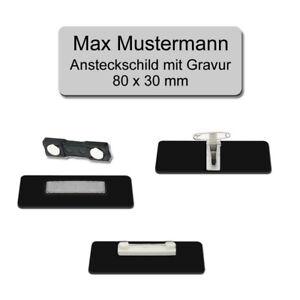 Farben  Nadel Magnet Kombiclip versch 1 x Gewölbtes Kunststoff Namensschild