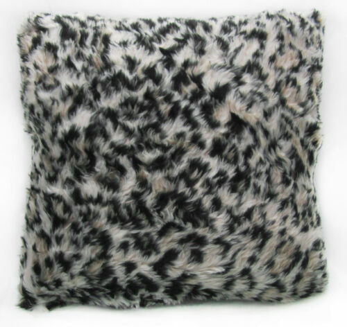 Brown Black Leopard Long Faux Fur Cushion Cover//Pillow Case Fi854a Off White P