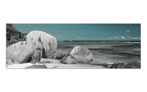 Deco Glasbild AG9-335// 90x30cm KARIBIK STRAND TÜRKIS DESIGN Wandbild